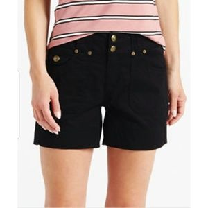 NWT one 5 one Black Double Button Denim  Shorts
